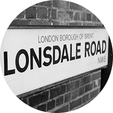 Street Sign for Lonsdal Road