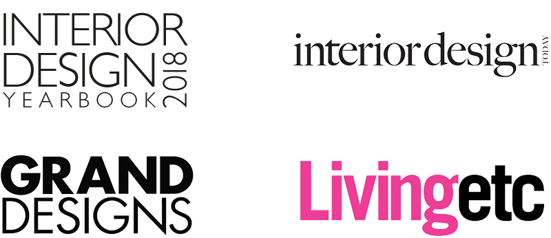 ID Yearbook, Interior Design, Grand Designs, Living Etc logos