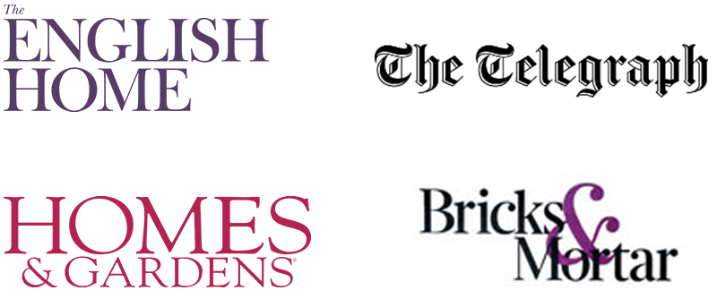 English Home, Achica, Homes and Gardens, Interior Elite logos