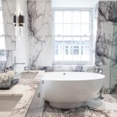 Roselind Wilson Design Eaton Mews North master bathroom