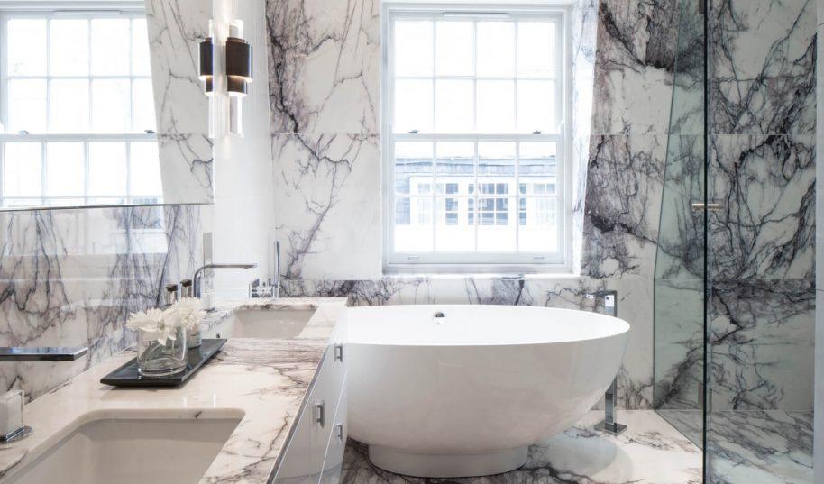 Roselind Wilson Design Eaton Mews North master bathroom