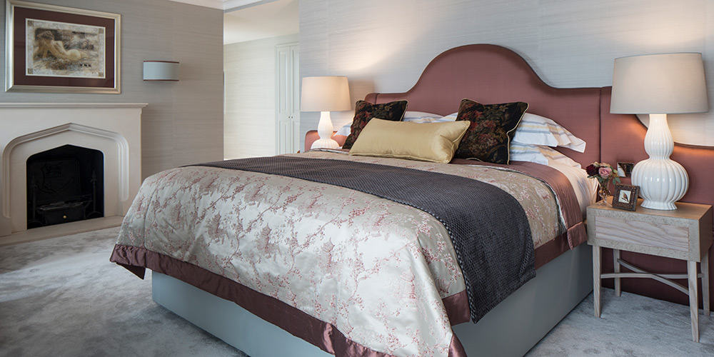 Elegant bedroom and backboard