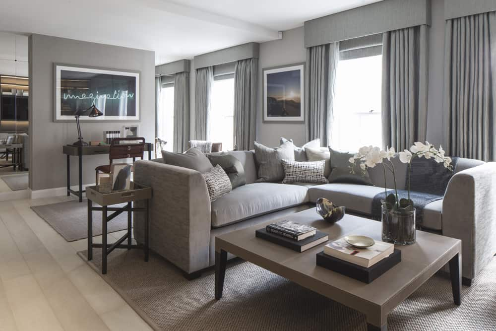 luxury living room in neutral colour palette