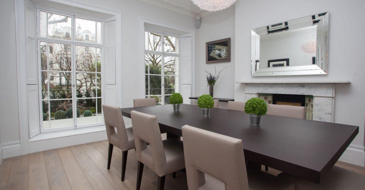 Roselind Wilson Design Holland Park dining room