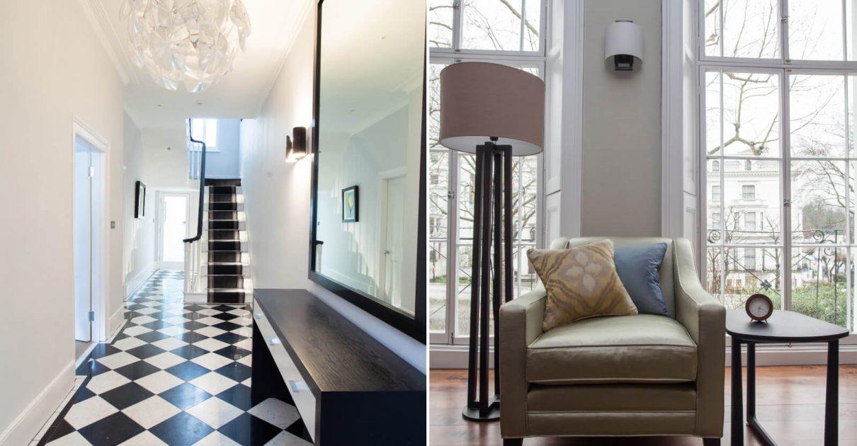 Roselind Wilson Design Holland Park living room hallway