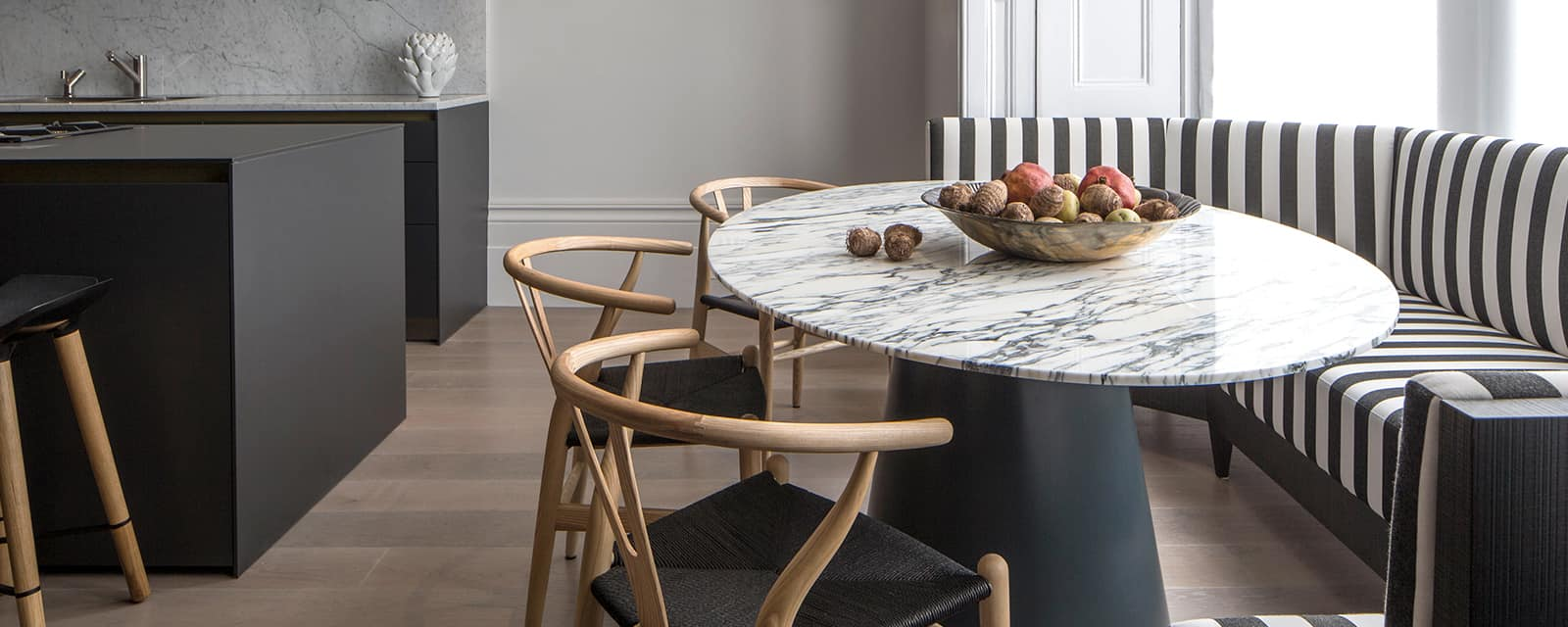 Contemporary marble table