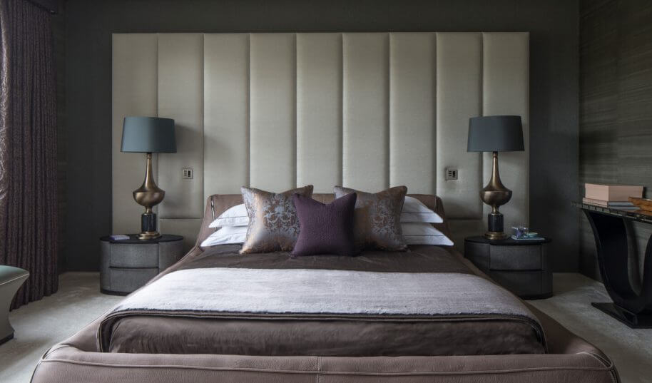 Broad walk statement headboard design by Roselind Wilson Design