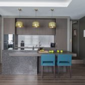 Roselind Wilson Design Eastcastle Street open plan kitchen living room