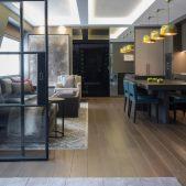 Roselind Wilson Design Eastcastle Street open plan kitchen living room