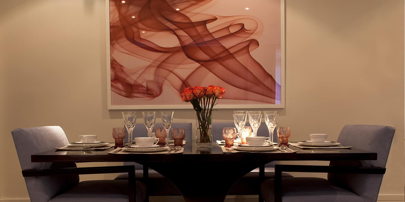 Dining table and contemporary art
