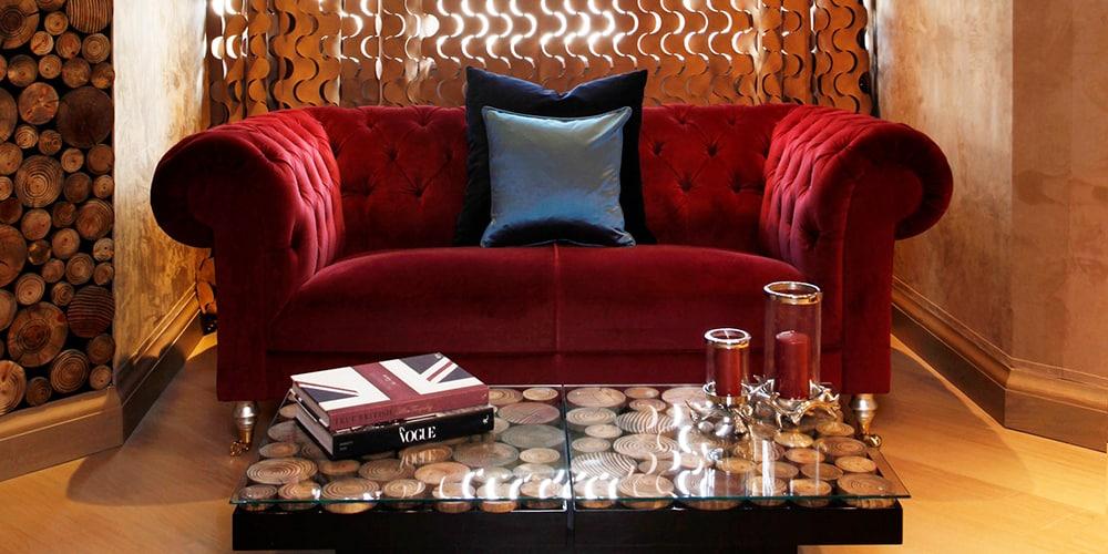 Regal red sofa