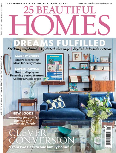 cover of 25 beautiful homes magazine april 2017 issue
