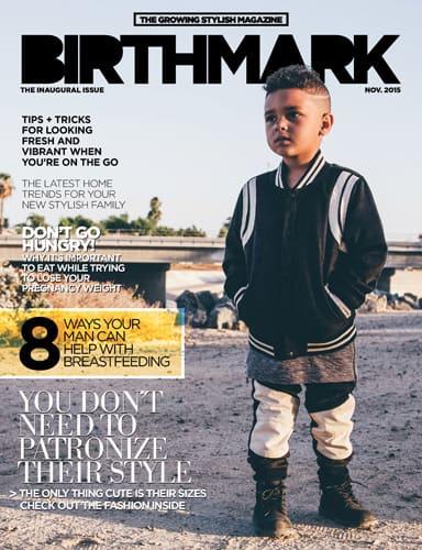 cover of birthmark magazine november 2015 issue