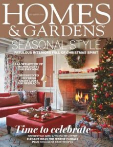 cover of homes & gardens magazine december 2016 issue