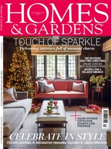 cover of homes and gardens magazine december 2017 issue