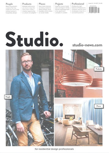 cover of studio magazine december 2017 issue