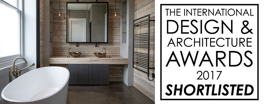 bathroom design shortlisted in the international design and architecture awards 2017