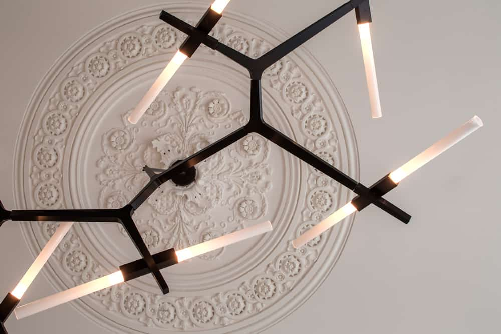 ceiling rose with agnes chandelier