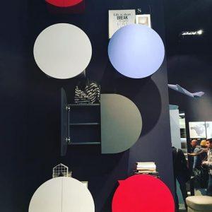 circular furniture in bright colours