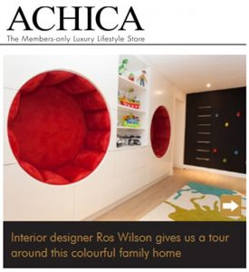 achica living online tour of colourful family home