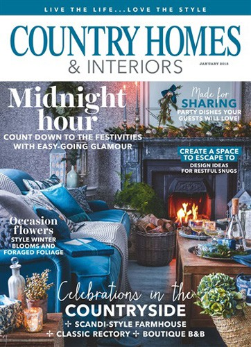 cover country homes and interiors magazine january 2018 issue