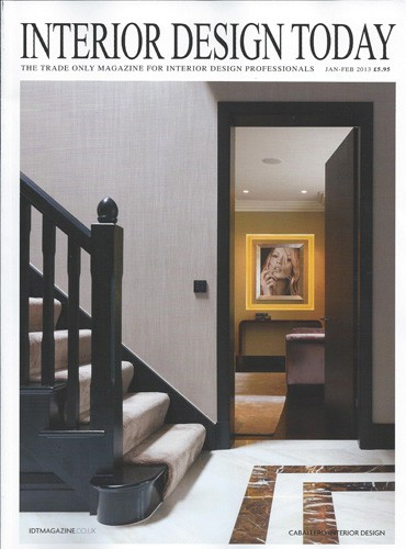 cover of interior design today magazine january february 2013 issue