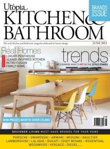 cover of utopia kitchen and bathroom magazine june 2013 issue