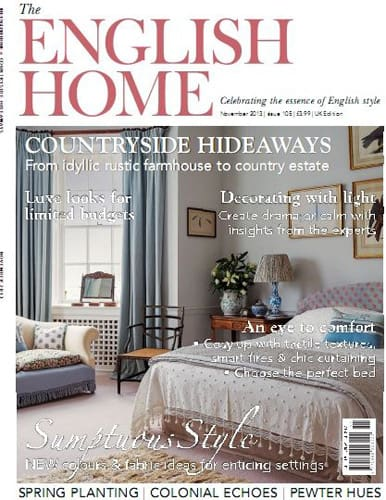 cover of the english home magazine november 2013 issue