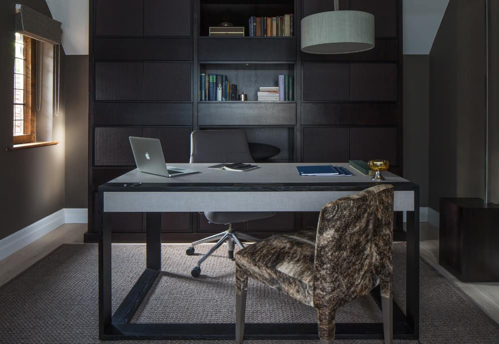 stylish workspace richmond study joinery roselind wilson design