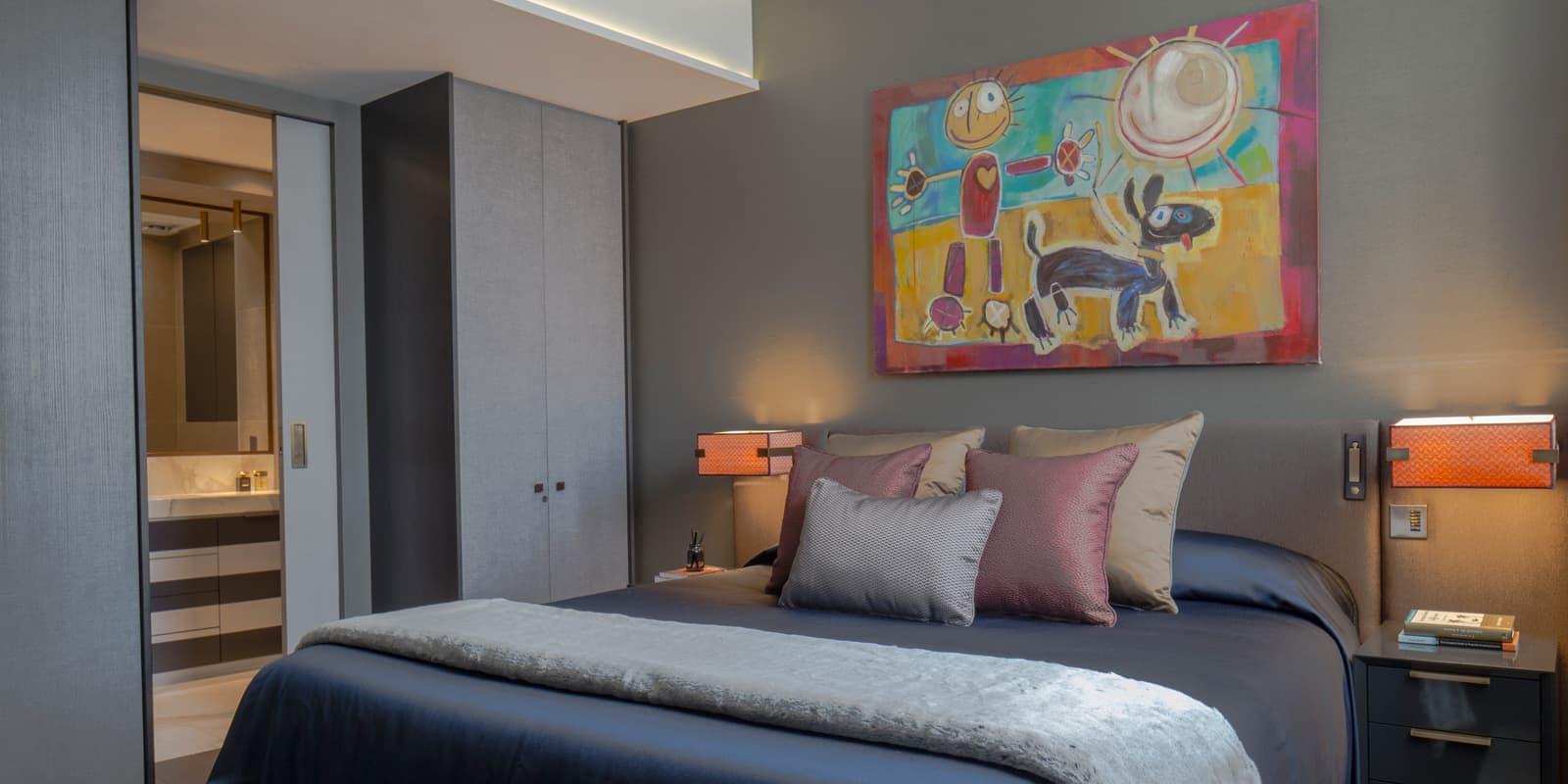 luxury fitzrovia apartment master bedroom roselind wilson design