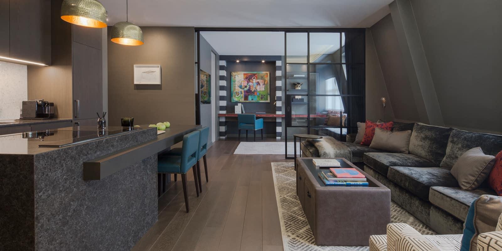 open plan luxury interior design fitzrovia apartment roselind wilson design