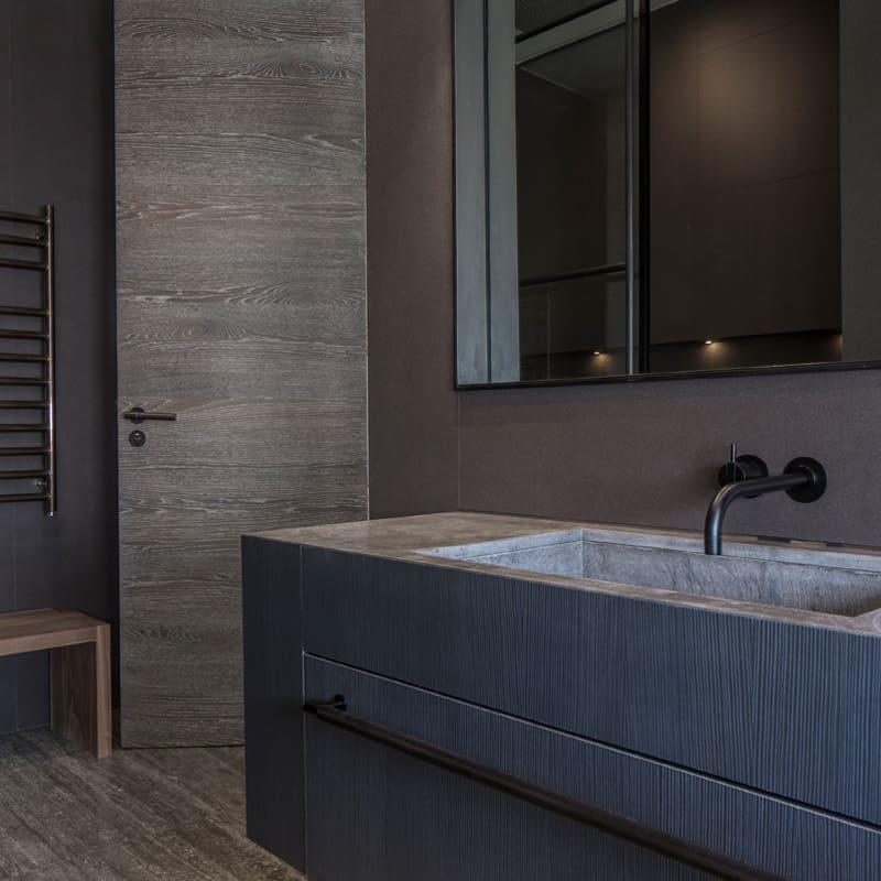 contemporary industrial bathroom design roselind wilson design