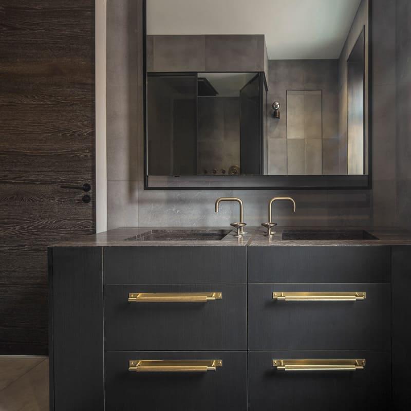 industrial luxe bathroom vanity roselind wilson design