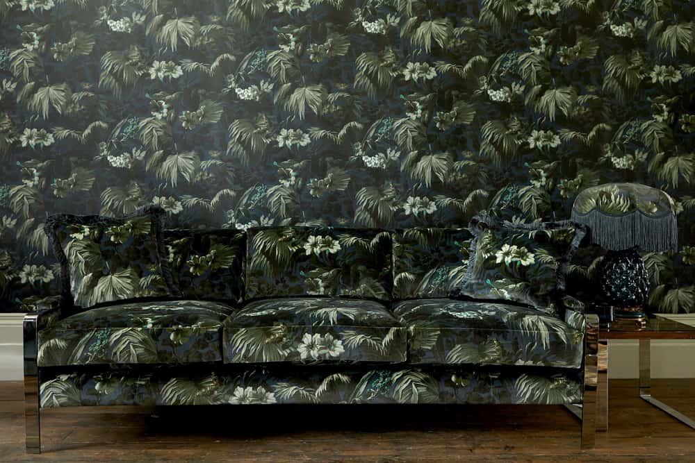 maximalism jungle foliage design