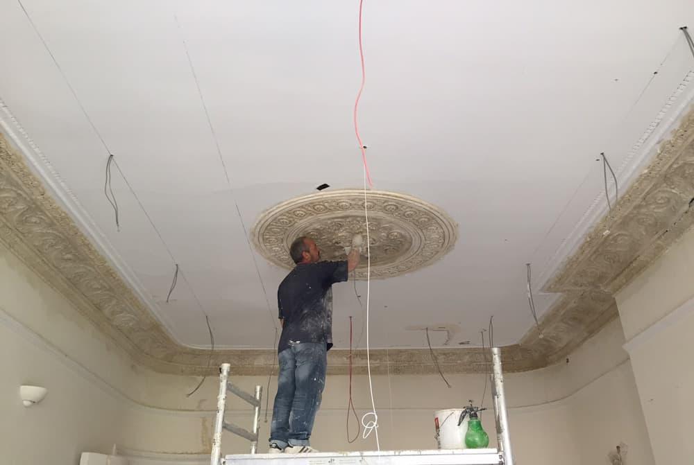 restoring architectural detailing ceiling rose roselind wilson design