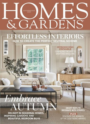 homes and gardens magazine cover november 2018 issue