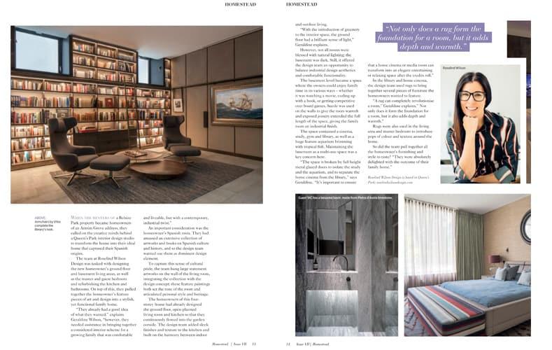 homestead magazine interior design feature roselind wilson design