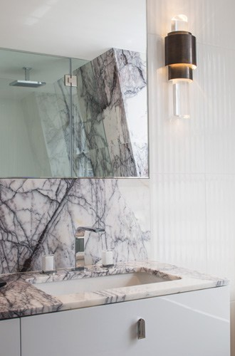 marble bathroom vanity counter top and sconce lighting roselind wilson design
