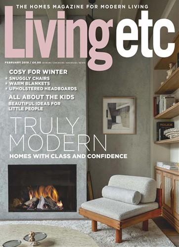 Livingetc magazine cover February 2019