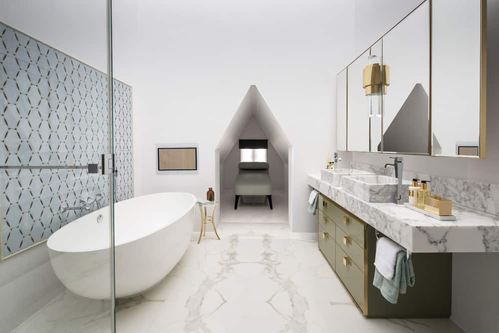 bathroom textural layers by roselind wilson design