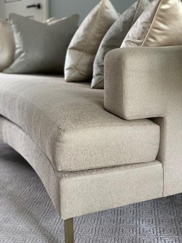bespoke curved sofa design details roselind wilson design
