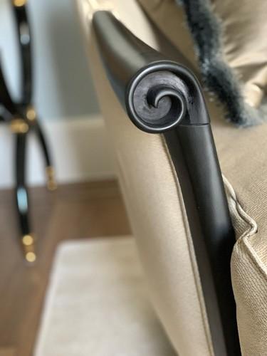 cocktail armchair detail roselind wilson design