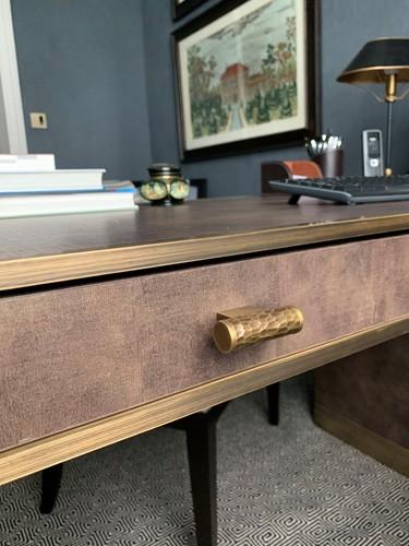textured study desk design details roselind wilson design