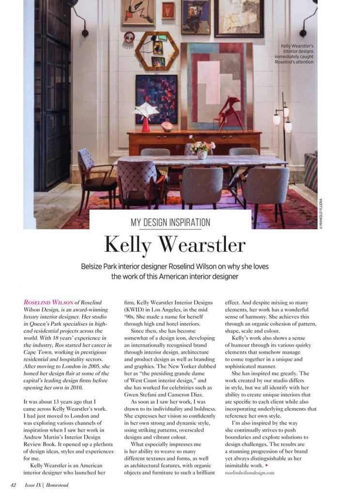 Homestead magazine my design inspiration article by roselind wilson