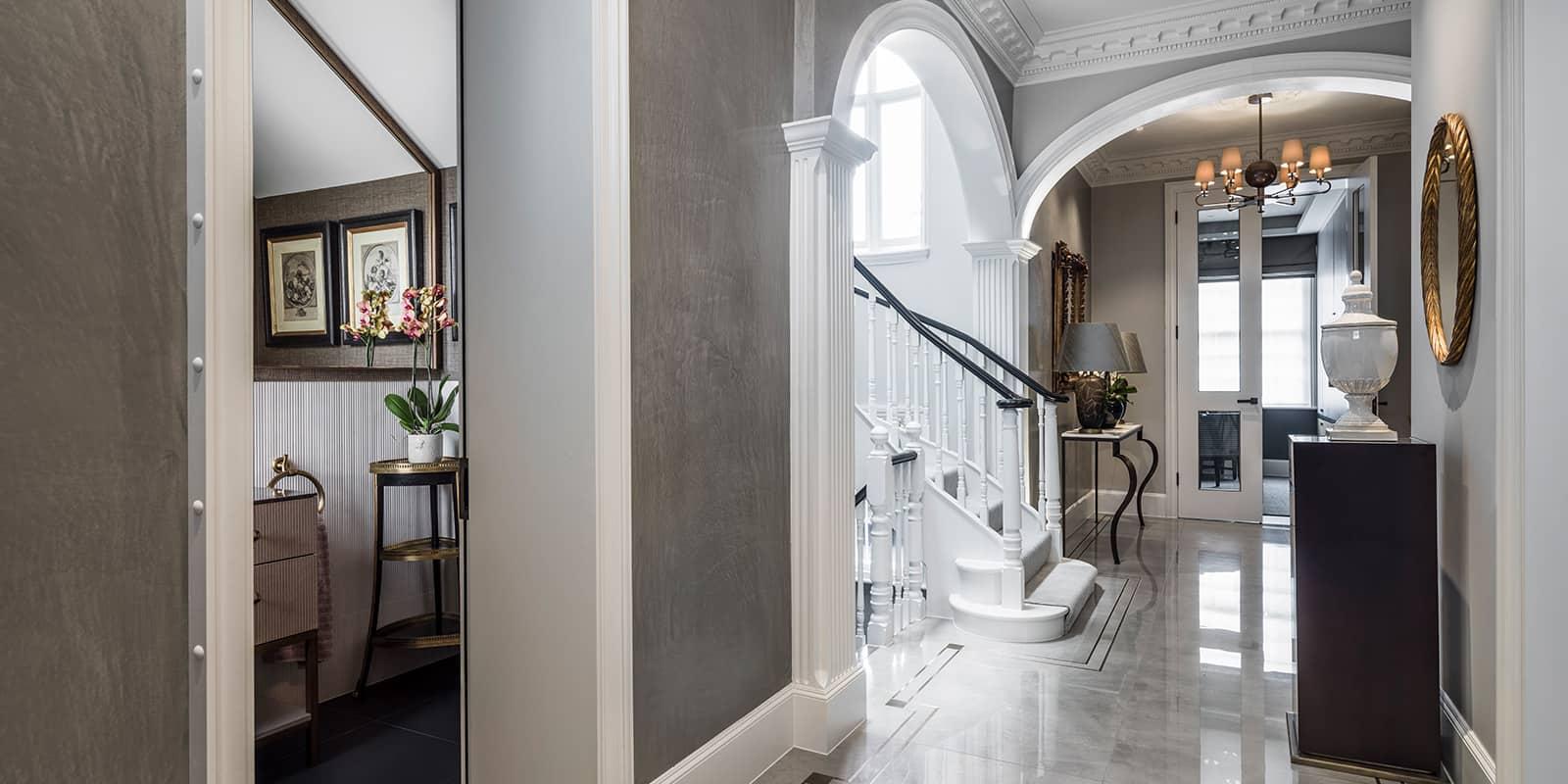 Luxury interior design entrance hall by roselind wilson design