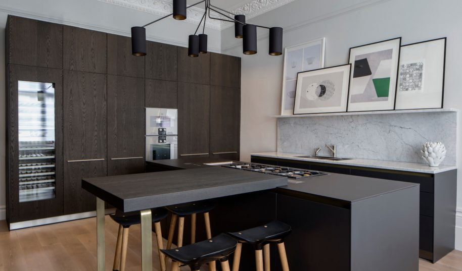 Roselind Wilson Design Belsize Park open plan kitchen