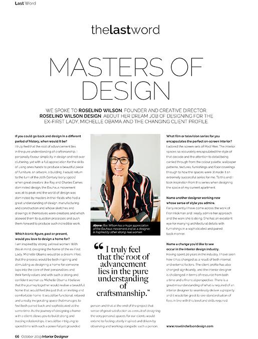 Interior Designer Magazine interview