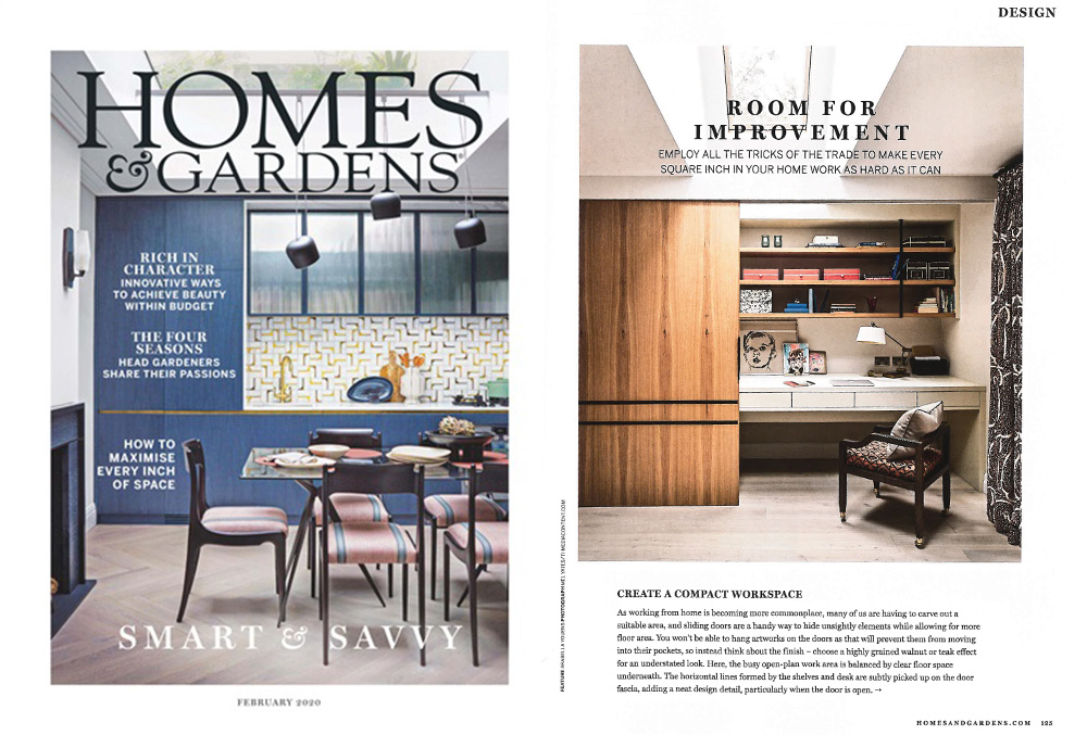 homes and gardens magazine feature on maximising space