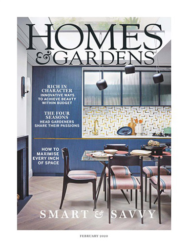 homes and gardens magazine cover february 2020 issue
