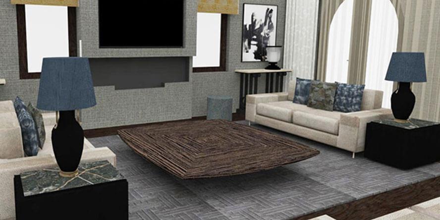 Roselind Wilson Design Broad Walk 3D render before